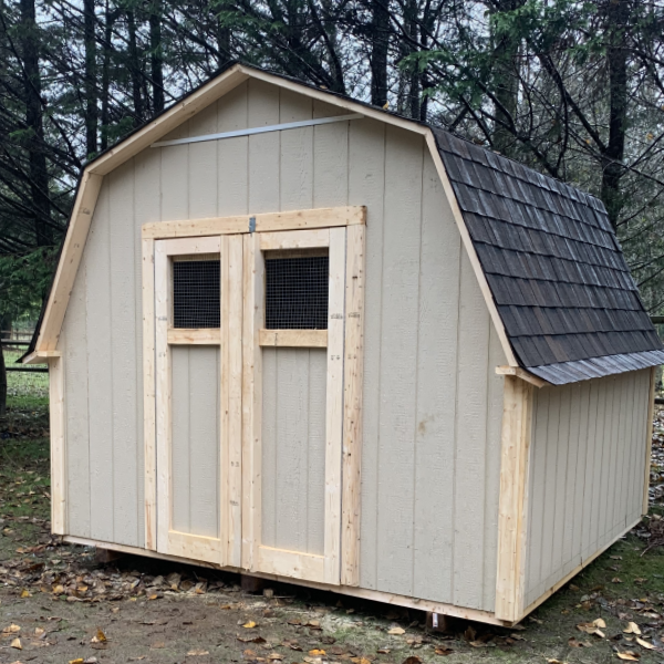 10ft x 10ft Critter Shelter with 4ft sidewall, chicken wire window