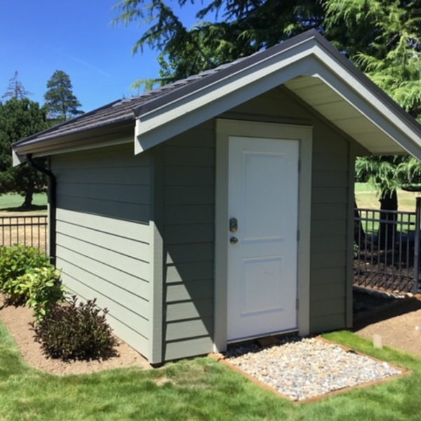 8ft x 12ft Custom Shed with steel door, insulated floor